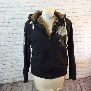 """Aeropostale """"fur"""" lined hoodie"""